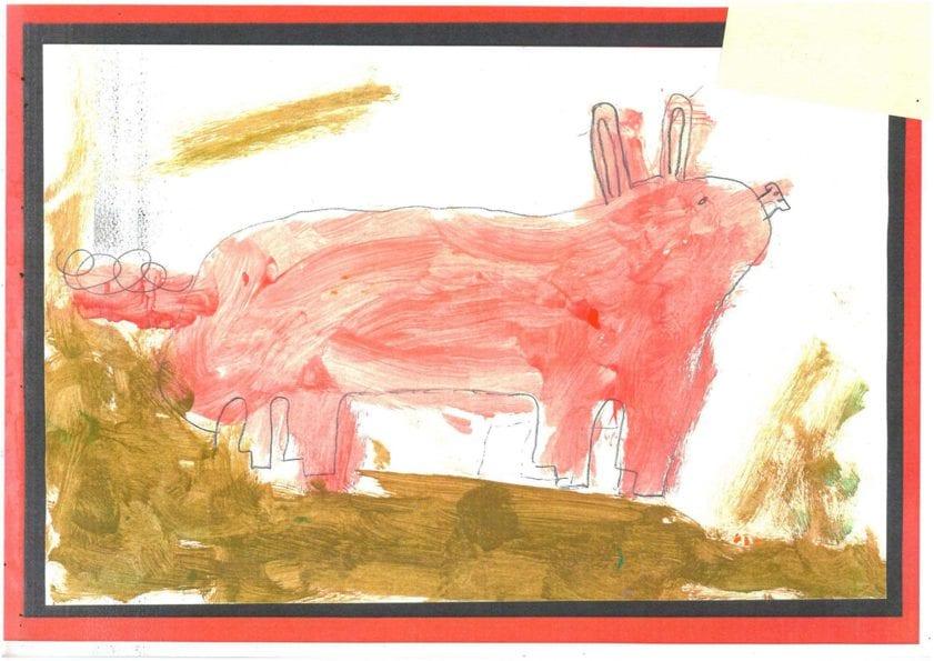 a piggy painting