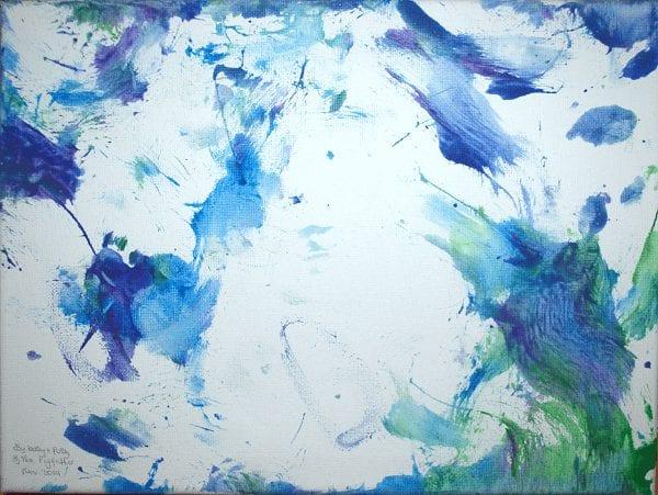 indigo sky piggy painting