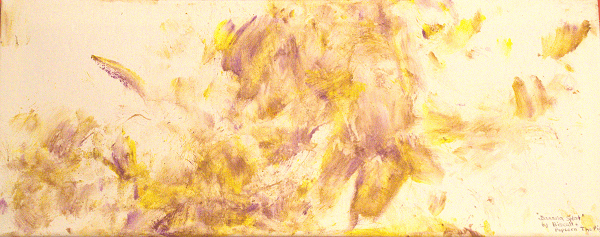 Banana splat snout painting by Biscuit and Popcorn