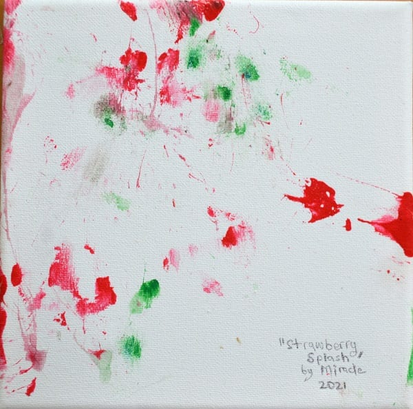Strawberry Splash painting by Miracle